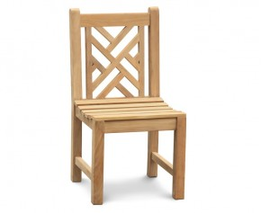 Princeton Teak Garden Lattice Back Chair - Teak Garden Chairs
