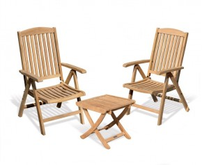 Cheltenham Outdoor Recliner Chairs Set with Footstool