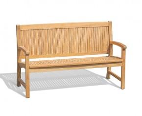 Bali 3 Seater Teak Outdoor Bench – 1.5m