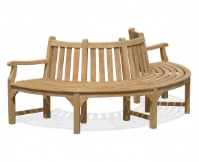 Semi-Circular Half Tree Seat with 2 arms – 2.2m