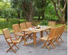 Shelley Six Seat Garden Drop Leaf Table and Chairs Set