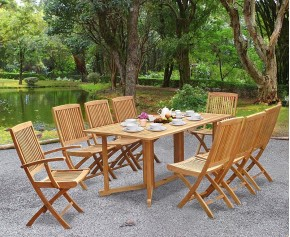 Shelley Six Seat Garden Drop Leaf Table and Chairs Set - Shelley Dining Sets