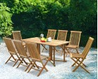 Shelley 8 Seater Rectangular Folding Garden Table and Ashdown Chairs Set
