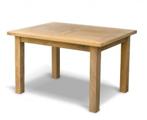 Balmoral Rectangular Teak Garden Table – 1.2m - Fixed Tables
