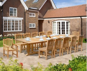Hilgrove 4m with 2 Clivedon Armchairs and 10 Side chairs