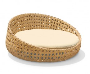 Oyster Open Weave Rattan Daybed