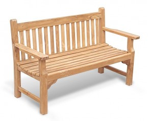 Taverners Teak 3 Seater Garden Bench