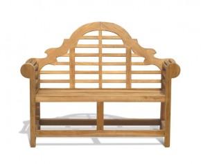 Lutyens-Style Teak Bench 1.35m