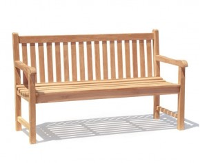 Windsor Teak 5ft Garden Bench - 3 Seater Garden Benches