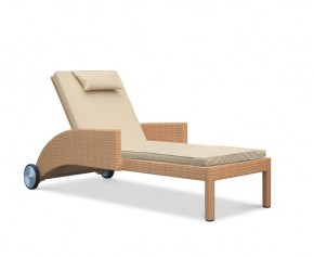 Sorrento Multi Position Rattan Sun Lounger - Padded Sun Loungers