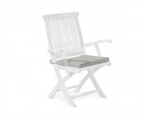 Folding Outdoor Chair Cushion With Ties -