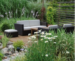 Riviera Poly Rattan Outdoor Sofa Set