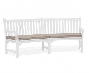 Connaught Curved Bench Cushion - 5 Seater Bench Cushions