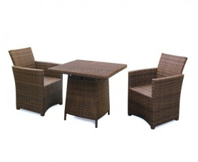 Eclipse Rehau Rattan 2 Seat Dining Set - All Weather - Square Table