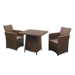 Eclipse Rehau Rattan 2 Seat Dining Set - All Weather