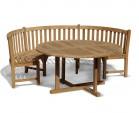 Henley Teak Garden Table and Bench Set
