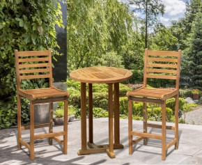 Canfield Yale Teak Outdoor Bar Set