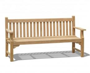 Taverners Teak 4 Seater Garden Bench - Heavy Duty Garden Benches