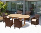 Brompton Bijou Double Leaf Extending Table and Riviera Armchairs Set