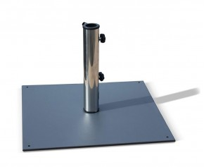 Slate Grey Medium 13kg Steel Parasol Base - Parasol Bases