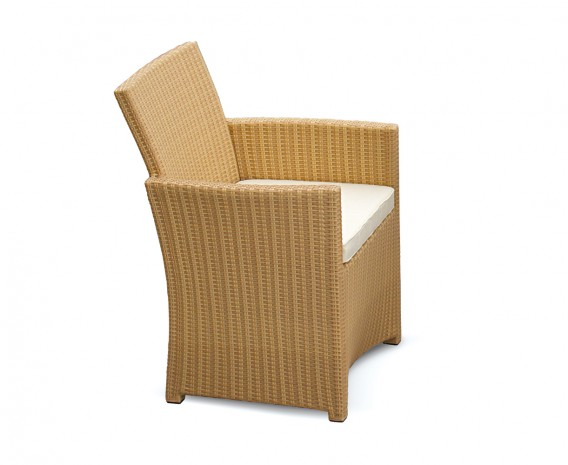 Eclipse Wicker Patio Chair, flat weave