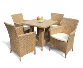 Riviera Poly Rattan 4 Seater Dining Set - Woven Furniture