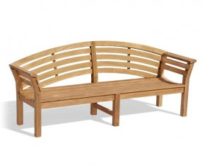 Teak Outdoor Wooden Bench - 1.95m