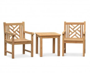 Princeton Teak 2 Seater Outdoor Set
