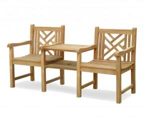 Princeton Vista Teak Garden Companion Seat - Companion Benches
