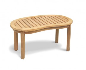 Contemporary Coffee Table - Reclaimed Teak, Rustic Finish