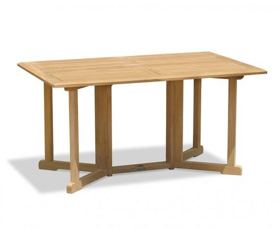 Shelley Teak 5ft Garden Rectangular Folding Gateleg Dining Table