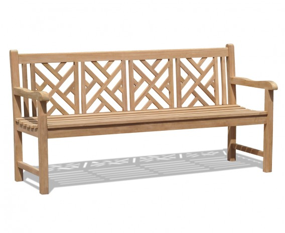 Princeton Teak 6ft Chinoiserie Bench