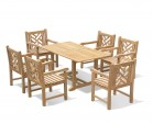 Hilgrove 6 Seater Garden Dining Set with Armchairs