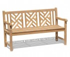 Princeton Teak 5ft Lattice Garden Bench - 1.5m