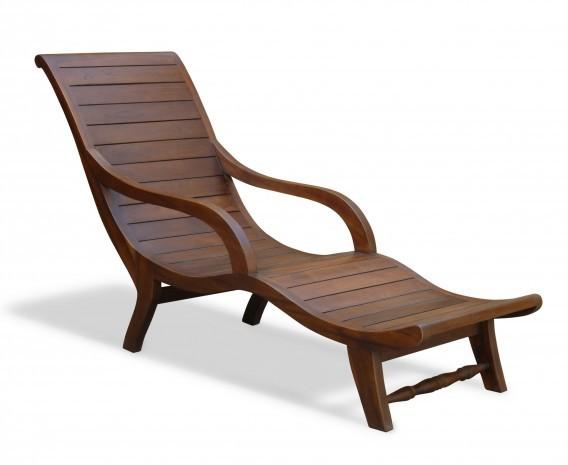 Reclaimed Teak Indoor Chaise Lounge - USED: GOOD