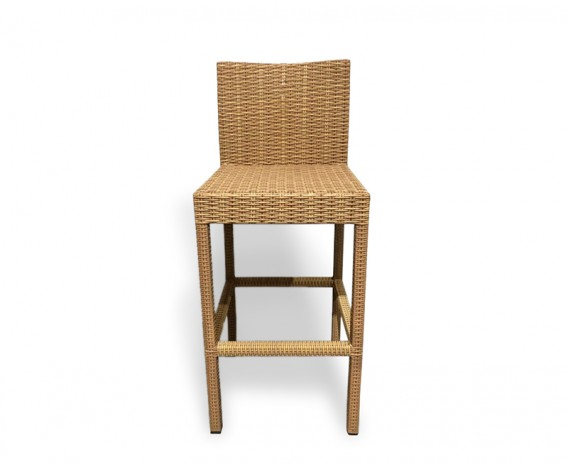 Woven Bar Stool, Honey Wicker - NEW: End of line