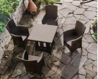 Riviera Poly Rattan 4 Seater Dining Set