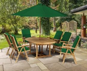 Cheltenham Oval Extending Table and 6 Reclining Chairs Set - Cheltenham Sets