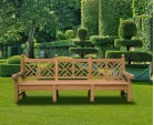 Chiswick Teak Chinese Chippendale Bench 2.75m