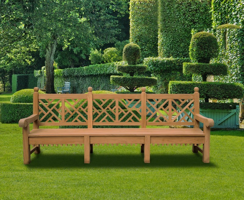 Delightful Good Chinese Garden Bench U2026 Chiswick Teak Chinese Chippendale Bench 2.75m .