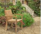 Monaco Teak Outdoor Stacking Chair