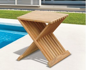 Chelsea Teak Garden Stool - Occasional Table - Side Tables
