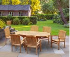 Bali Bijou Teak 6 Seater Extending Set