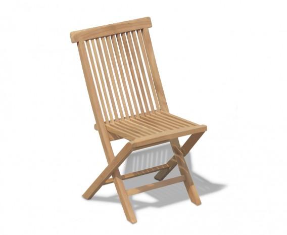 Teak Foldable Low-Back Garden Chair