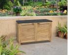 Aria Garden Sideboard, Teak and Granite