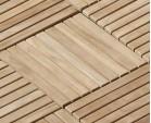 Teak Interlocking Deck Tiles, Classic Parquet Pattern