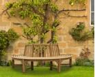 Teak Circular Half Tree Seat