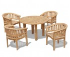 Titan Round Table with 4 Contemporary Chairs