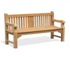 Balmoral Teak 6ft Park Bench - Memorial Garden Bench - 1.8m