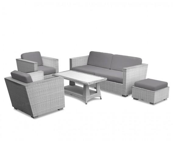 Riviera Rattan Sofa Set in Grey Weave
